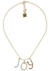 Rosantica Letters Joy Chain Necklace W/ Crystals