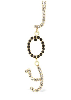 Rosantica Letters Joy Mono Earring W/ Crystals