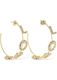 Rosantica Letters Love Hoop Earrings W/ Crystals
