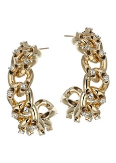 Rosantica Libertà Crystal Chain Hoop Earrings