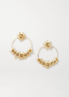 Rosantica Lirica Gold-tone Crystal Hoop Earrings