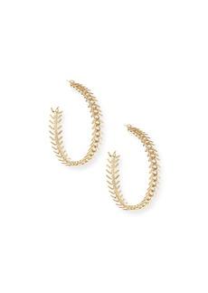 Rosantica Lisca Scalloped Hoop Earrings