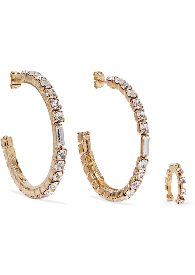 Rosantica Luci Gold-tone Crystal Earrings And Ear Cuff
