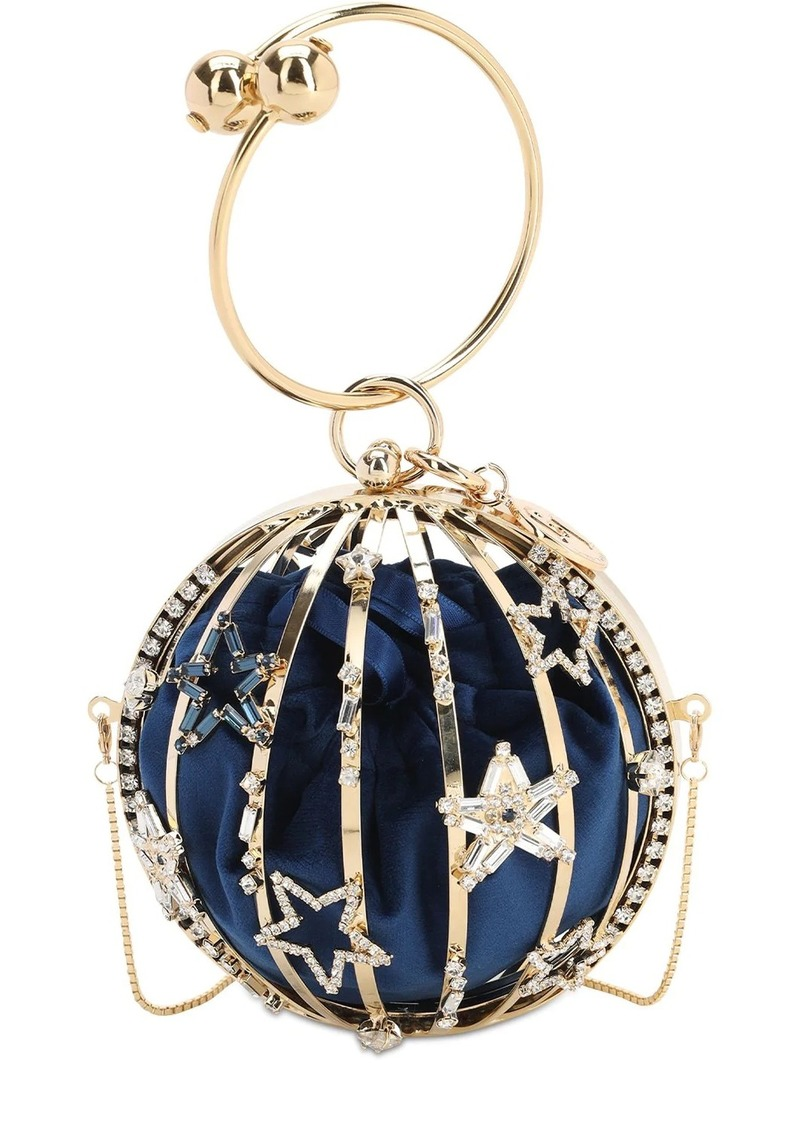 Rosantica Lunaria Crystal Top Handle Bag
