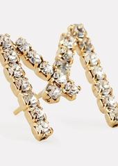 Rosantica M Lettere Crystal Initial Earring