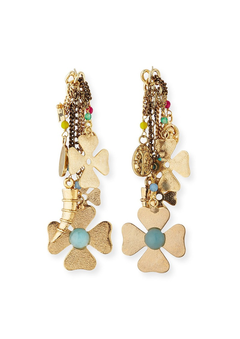 Rosantica Malocchio Mixed Charm Dangle Earrings