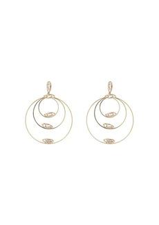 Rosantica gold tone triple hoop crystal-embellished earrings