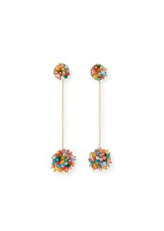 Rosantica Multicolor Pompom Drop Earrings
