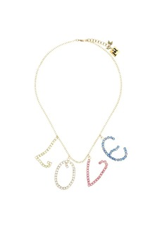 Rosantica multicoloured Love crystal necklace