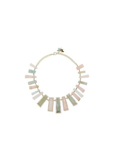 Rosantica multicoloured stone drop necklace