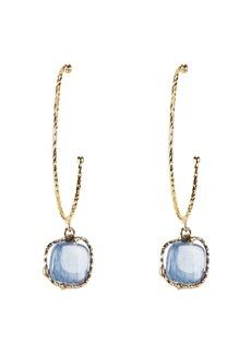 Rosantica Nettare Blue Stone Gold Hoop Earrings