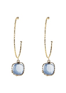 Rosantica Nettare Blue Stone Gold Hoop Earrings