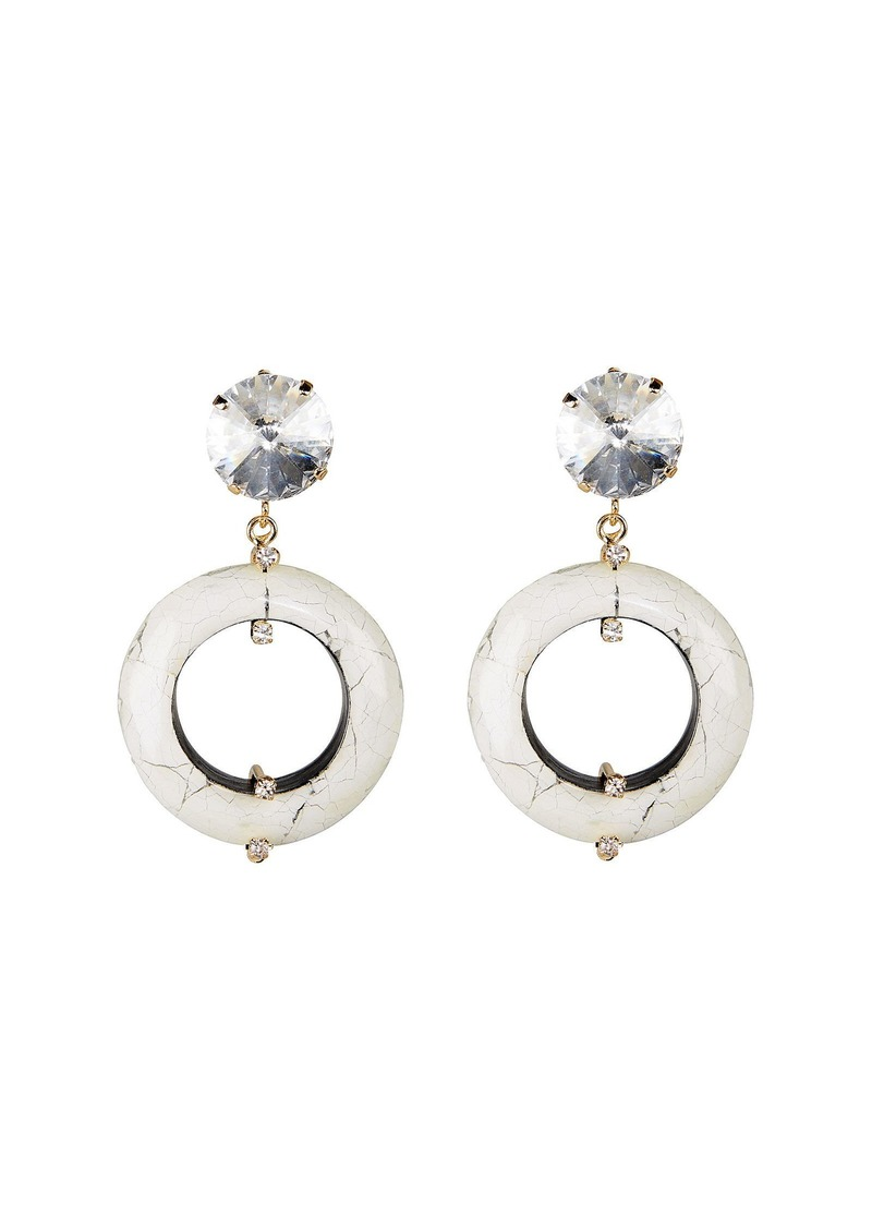 Rosantica Olimpo Marbled Ring Earrings