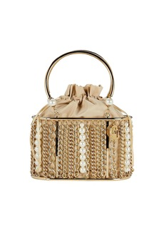 Rosantica Olivia Pearl & Chain Cage Bag