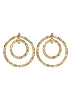 Rosantica Onore Beaded Gold-tone Hoops