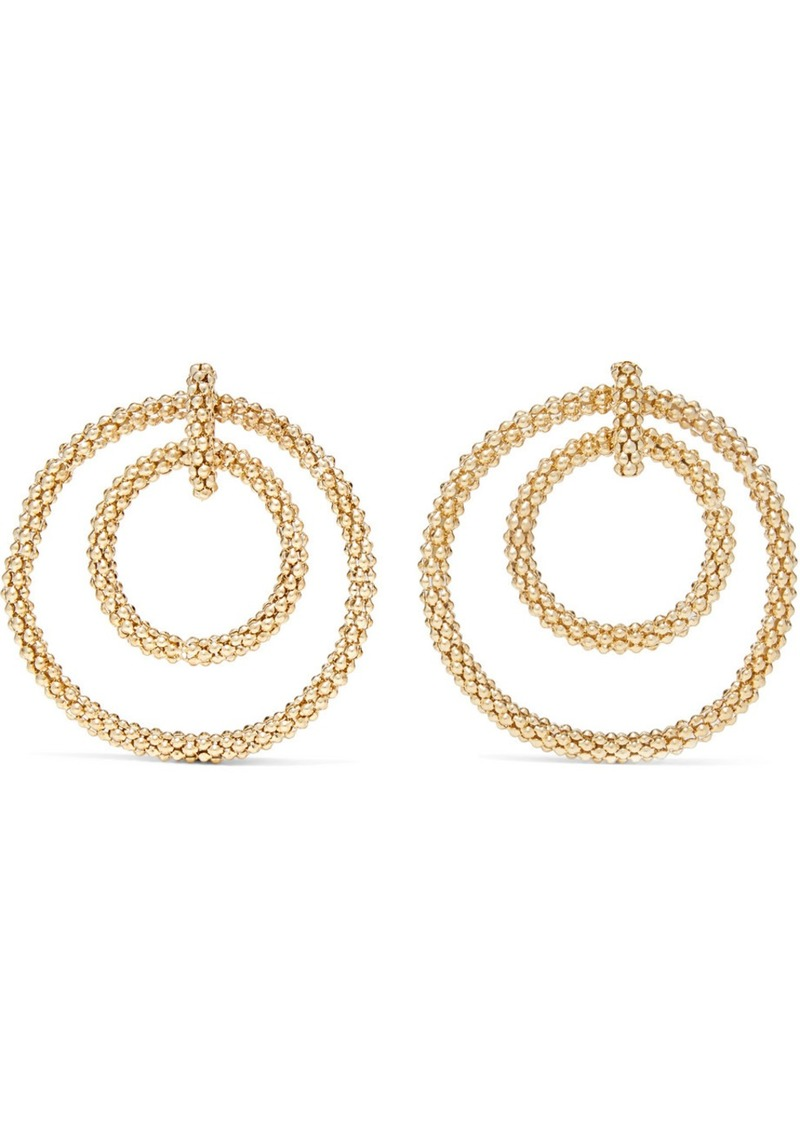 Rosantica Onore Gold-tone Hoop Earrings