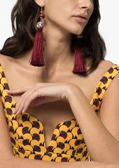 Rosantica Optic tassel bead drop earrings