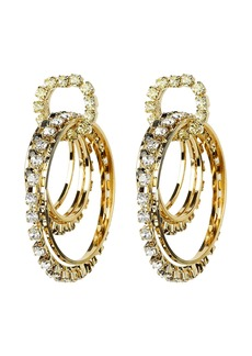 Rosantica Rock Circle Crystal Earrings
