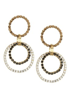 Rosantica Rock Crystal Double Hoop Earrings