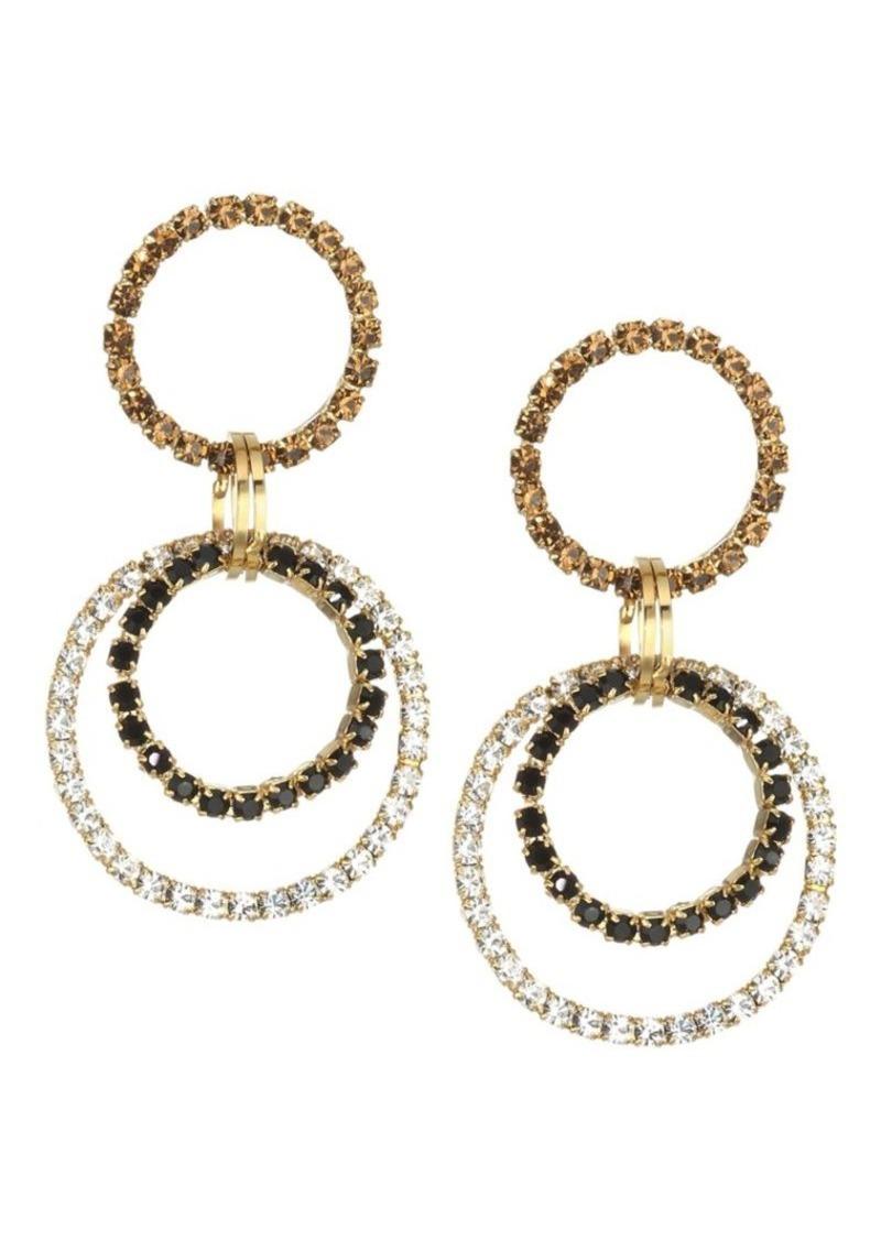 Rosantica Rock Crystal Double Hoop Earrings