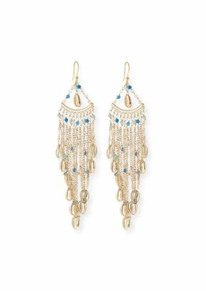 Rosantica Antilla Puka Shell Fringe Drop Earrings