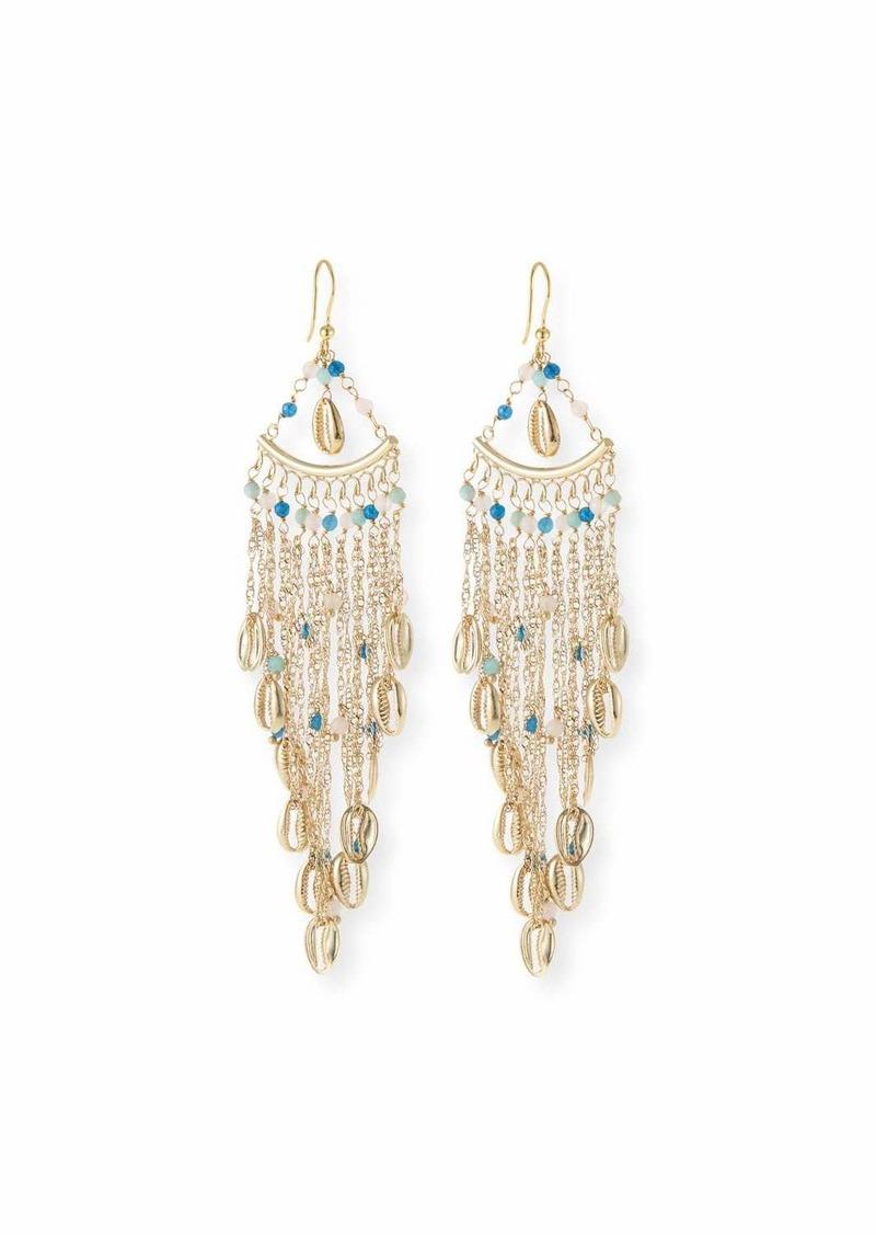 Rosantica Antilla Puka Shell Fringe Drop Earrings