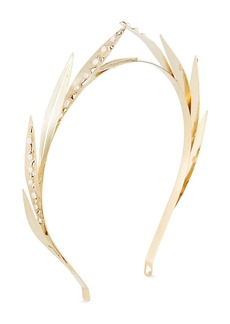 Rosantica Apache Brass Leaf Pearl Trim Headband