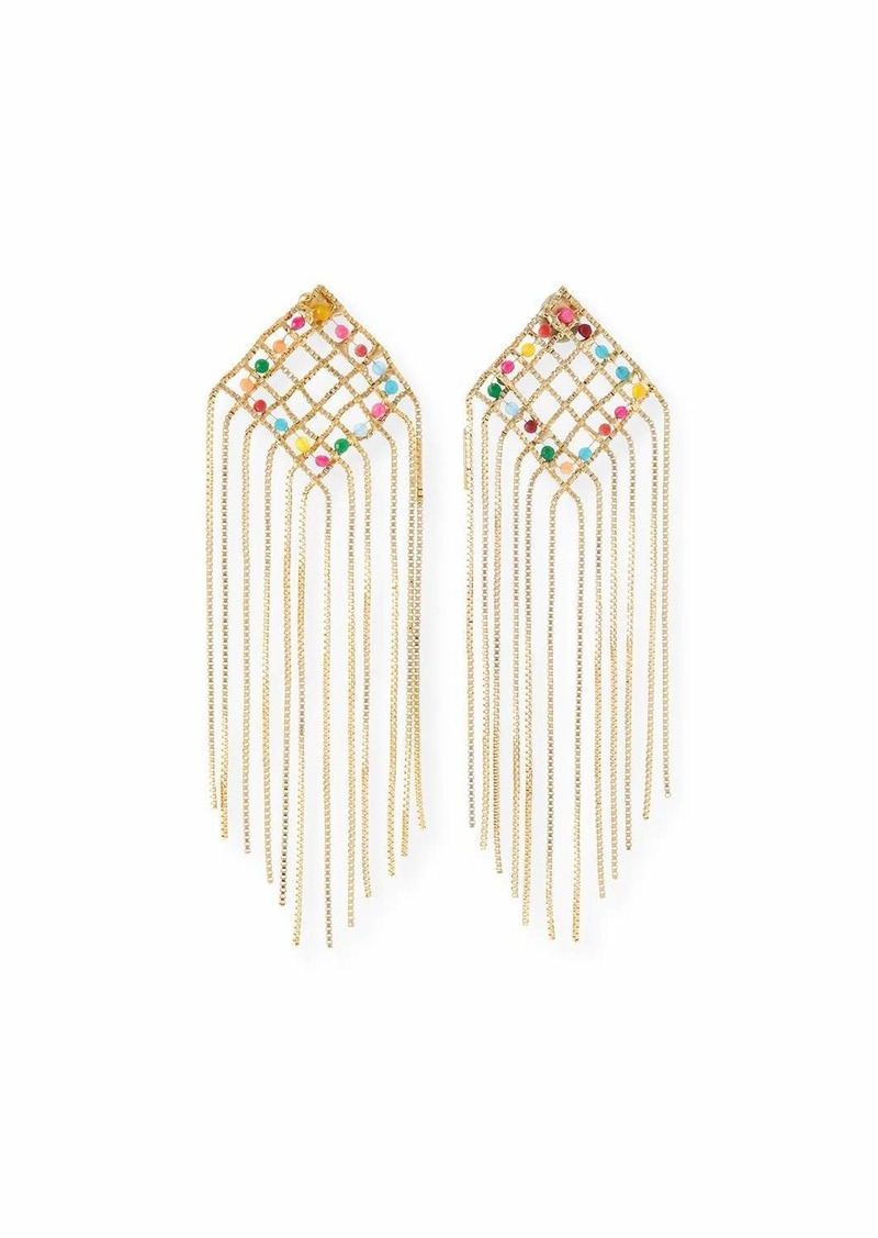 Rosantica Aquilone Multicolor Kite Fringe Earrings