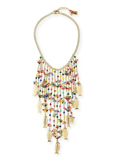 Rosantica Arsella Rainbow Fish Statement Necklace