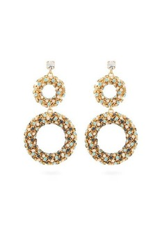 Rosantica Caos crystal-embellished drop earrings