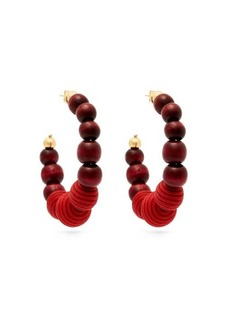 Rosantica By Michela Panero Colonia bead-embellished hoop earrings