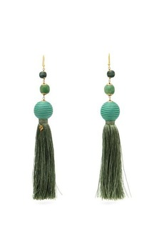Rosantica Colonia bead-embellished tassel earrings