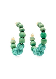 Rosantica By Michela Panero Colonia large beaded hoop earrings