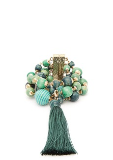 Rosantica By Michela Panero Colonia wrap bead and tassel bracelet