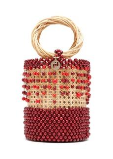 Rosantica By Michela Panero Cora beaded wicker bucket bag
