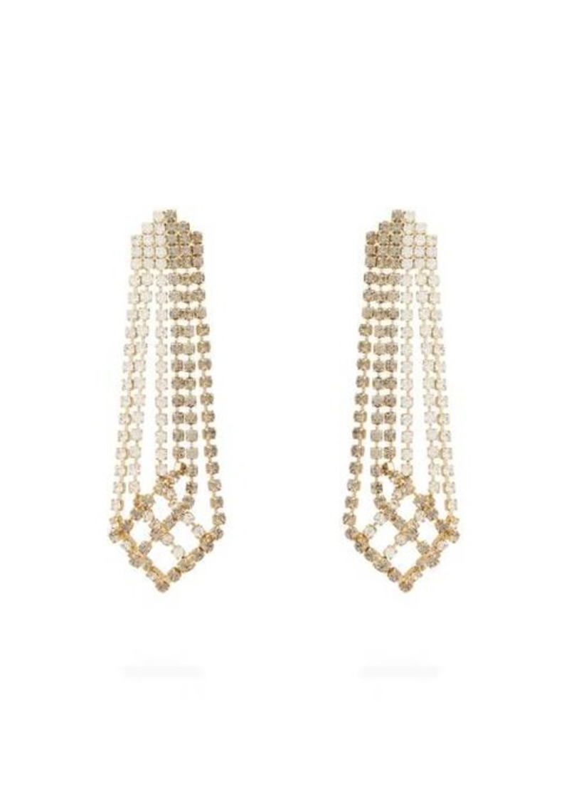 Rosantica By Michela Panero Crystal-drop tassel earrings