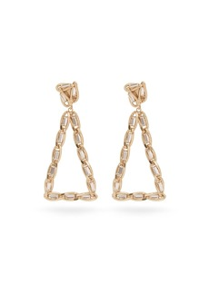 Rosantica By Michela Panero Crystal triangle clip earrings
