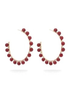 Rosantica By Michela Panero Dada beaded hoop earrings