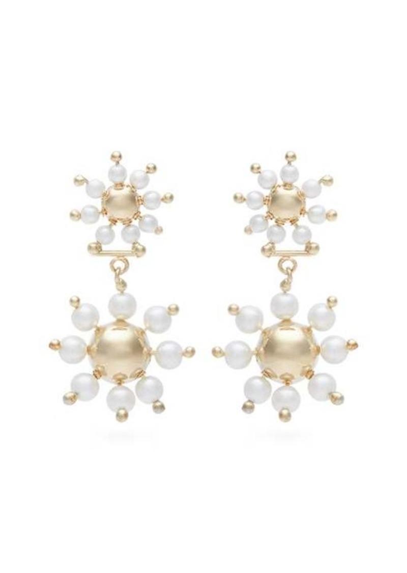 Rosantica By Michela Panero Daisy faux-pearl drop earrings