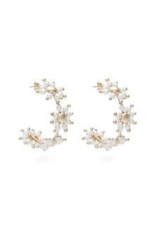 Rosantica Daisy faux-pearl hoop earrings