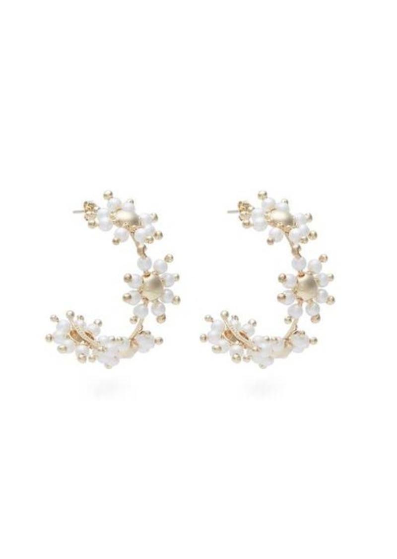Rosantica By Michela Panero Daisy faux-pearl hoop earrings