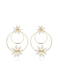 Rosantica By Michela Panero Daisy faux-pearl hoop earrings