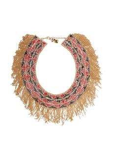 Rosantica By Michela Panero Dakota beaded fringe necklace