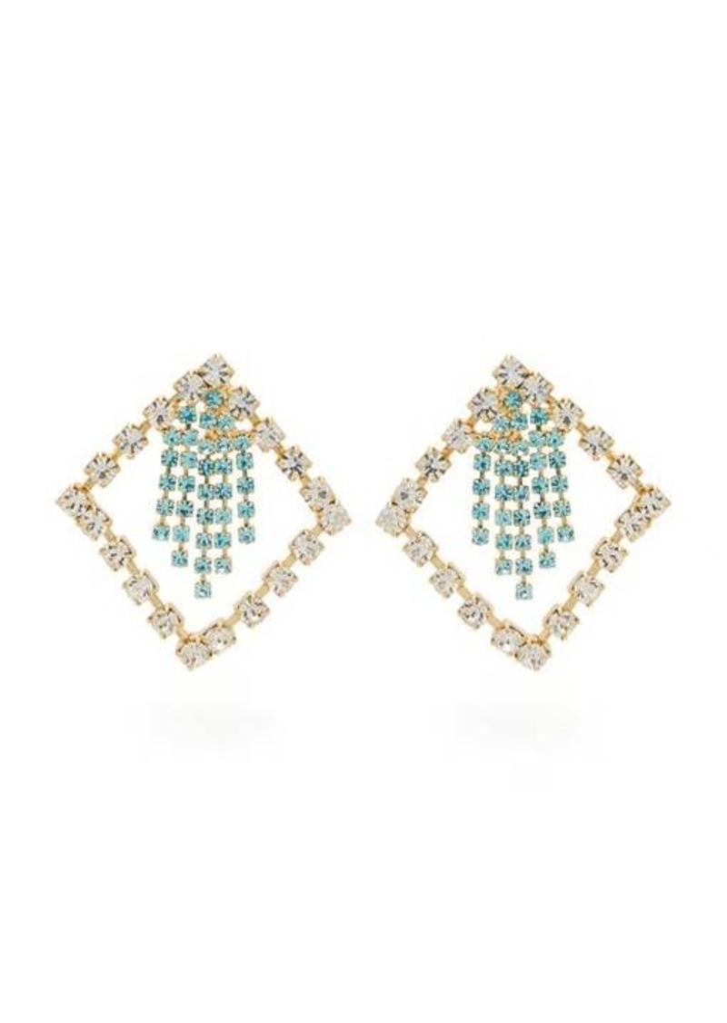 Rosantica By Michela Panero Divinita crystal-embellished earrings