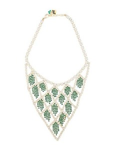 Rosantica By Michela Panero Divinita crystal necklace