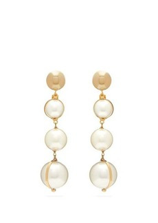 Rosantica By Michela Panero Epica faux pearl-drop clip earrings