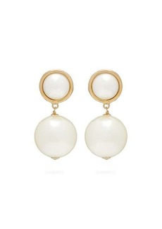 Rosantica By Michela Panero Epica faux-pearl drop clip earrings