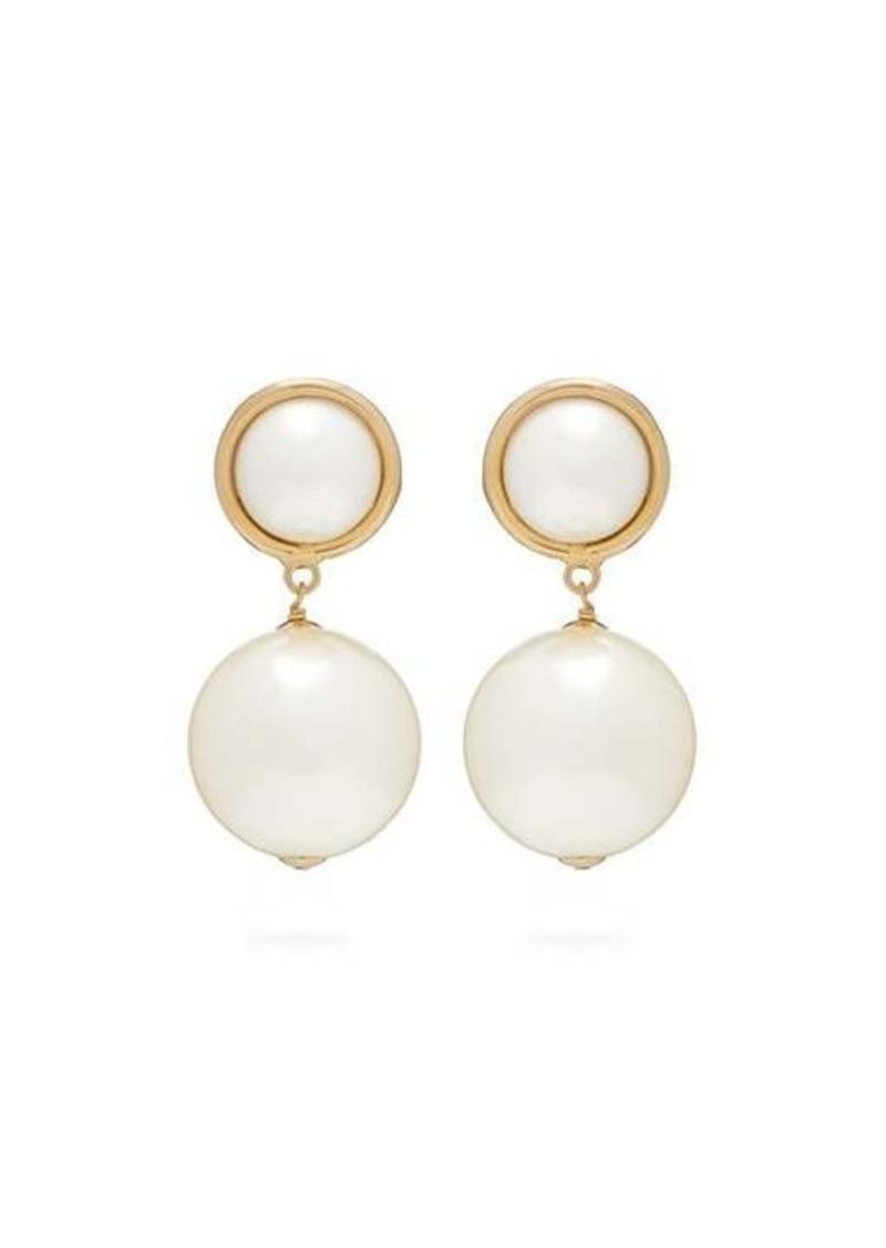 Rosantica By Michela Panero Epica faux-pearl drop clip earrings