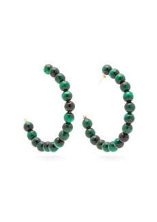 Rosantica By Michela Panero Esplosione beaded hoop earrings