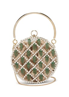 Rosantica By Michela Panero Gautier crystal-embellished cage clutch